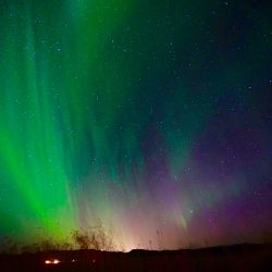 The Northern Lights were Spectacular in the Icelandic sky yesterday