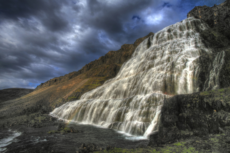 Dynjandi waterfall in Iceland