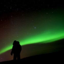 We drove a few hours to see the northern lights in Iceland