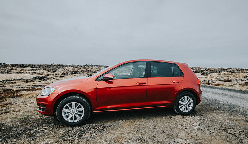Rent A Volkswagen Golf Automatic In Iceland Northbound Is