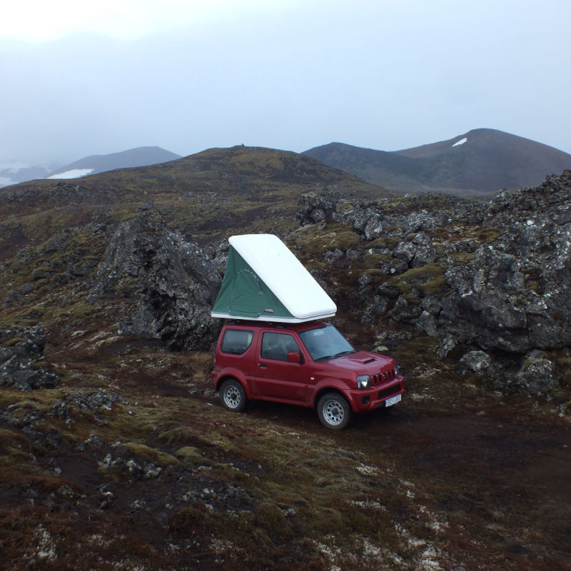 2015 Suzuki Jimny + Roof Tent & Rent a Suzuki Jimny + Roof Tent in Iceland - Northbound.is