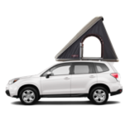 2017 Subaru Forester + Roof Tent for 2 persons