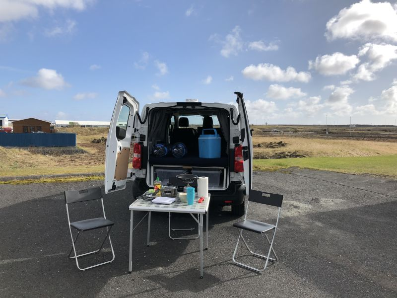 Rent a Toyota Proace 3 Person Camper in Iceland - Northbound